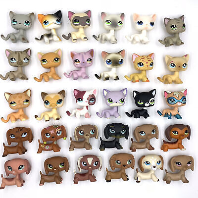 10 Pcs/lot Rare Littlest Pet Shop Lot Cats And DACHSHUND Dogs LPS Toy Girls Toys • 19.99£