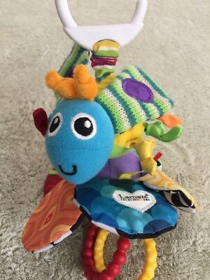 Lamaze Bumble Bee Flower Blue Green Black White Crinkle Rings Pull Toy Vibrating • 6.74£