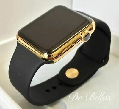 $ CDN856.14 • Buy 24K Gold Plated 42MM Apple Watch SERIES 2 With Black Sport Band