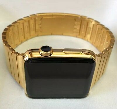 $ CDN891.08 • Buy 24K Gold Plated 42MM Apple Watch Series 2 Gold Link Band Custom Rare