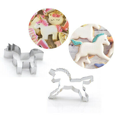 AU4.66 • Buy 1PC Cookie Cutter Unicorn Biscuits Mold Cartoon DIY Baking Fondant Cake Mould