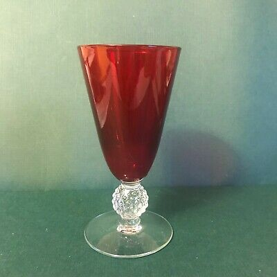 1 Ruby Morgantown Glass Golf Ball Juice Goblet  (4 Available)  • 15$