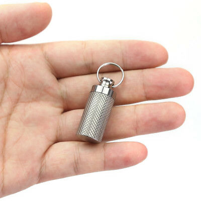 $4.62 • Buy Waterproof Metal Medicine Pill Box Case Bottle Holder Container Keychain Healthy