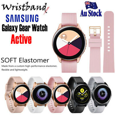 AU8.99 • Buy For Samsung Galaxy Watch Active Replacement Soft Silicone Sport Wrist Band Strap
