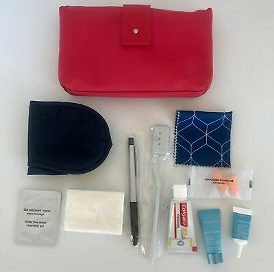 AU51.12 • Buy Air France First Class Airline Travel Dopp Kit Pouch With Accessories - Red
