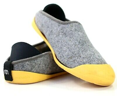 f89a7b760626 Mahabis Classic Womens Size 38 US 7.5 Yellow Gray Wool Slip On Slipper Shoes  • 43.97