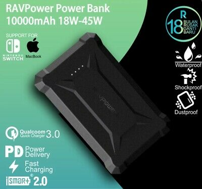 AU68.36 • Buy RavPower Power Bank 10050mAh Waterproof QC3.0 Quick Charge 18W Portable Charger
