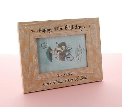£9.98 • Buy Personalised Engraved Photo Frame. Birthday Gift, 50th, 60th, 65th, 70th Gifts