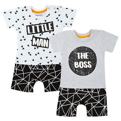 Baby Boys Short Romper Body Suit T-Shirt + Shorts Outfit Babies Newborn Gift • 6.99£