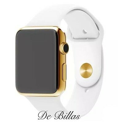 $ CDN856.14 • Buy 24K Gold Plated 42MM Apple Watch SERIES 2 With White Sport Band