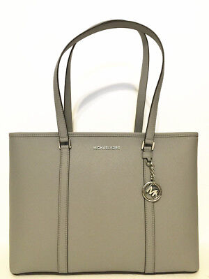 d26be3b7cf NWT Michael Kors Sady Large Multifunctional Top Zip Tote Grey Laptop Bag •  129.00