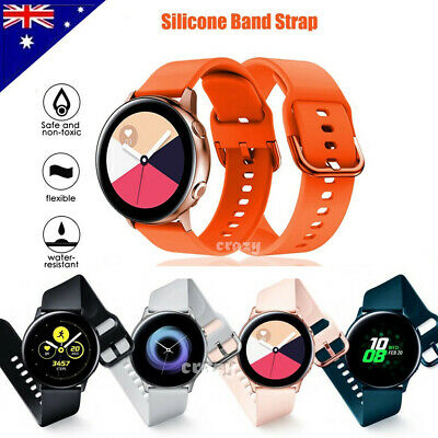 AU6.49 • Buy For Samsung Galaxy Watch Active 2 Replacement Silicone Sport Wrist Band Strap OZ