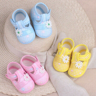 £2.55 • Buy Cute Baby Girls Newborn Floral Bow Toddler Infant Soft Sole Anti-slip Pram Shoes