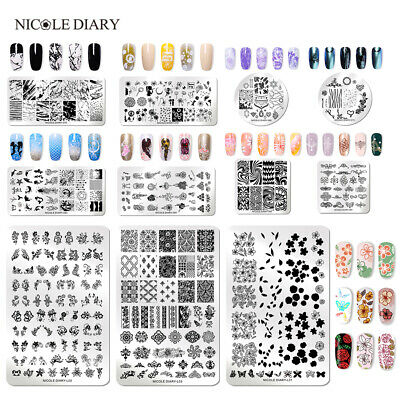$0.99 • Buy 121 Patterns NICOLE DIARY Nail Stamping Plates Stainless Steel Nail Art Tool