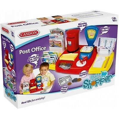 Casdon Post Office Toy Scales Post Box Stationery Currency Role Play Toy NEW • 13.99£