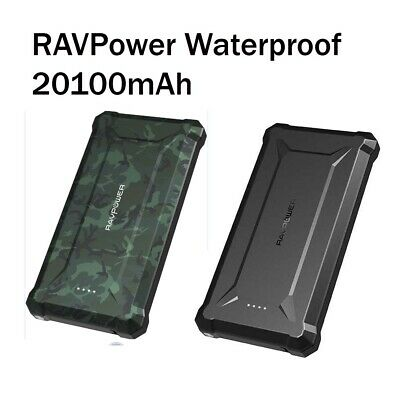 AU118.01 • Buy RAVPower Waterproof 20100mAh Rugged Series Portable Power Bank 45W PD + QC 3.0