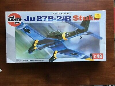 $31.88 • Buy 1/48 Airfix Ju87B 2/R Stuka German Dive Bomber Plastic Scale Model Kit Sealed