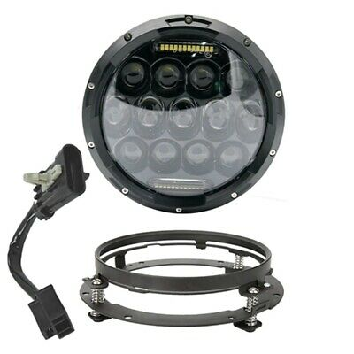 AU68.74 • Buy 7 Inch LED Headlight With Mounting Bracket Wire Harness For Yamaha Motorcycle
