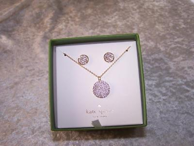 $ CDN67.01 • Buy New Kate Spade All That Glitters Pave Pendant And Earrings Boxed Set Golden