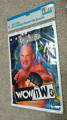 WCW NWo WRESTLING PARTY BAGS (8)  Vintage Birthday Party Supplies Favors WWE Boy • 4.59£