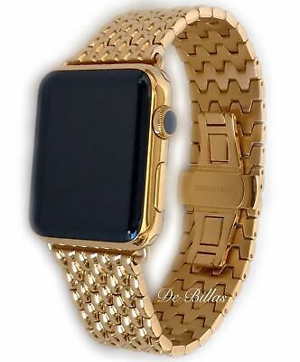 $ CDN978.62 • Buy 24K Gold Plated 42MM Apple Watch SERIES 3 24K Gold Links Butterfly Band