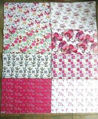£2.22 • Buy Women's Floral Wrapping Paper - 2 Sheets Top Quality Gift Wrap - Glossy Flowers