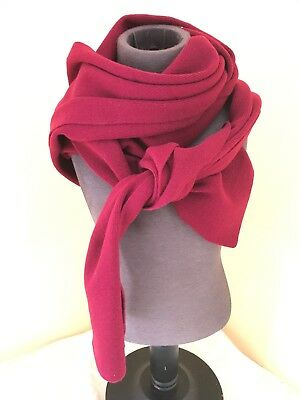 $12 • Buy Solid Burgundy Scarf NY Based Extra Long 100% Lambswool
