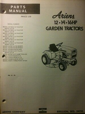 AU96.90 • Buy Ariens S-12 14 16 Lawn Garden Tractor & Implements & Sno-Thro Parts (2 Manual S)