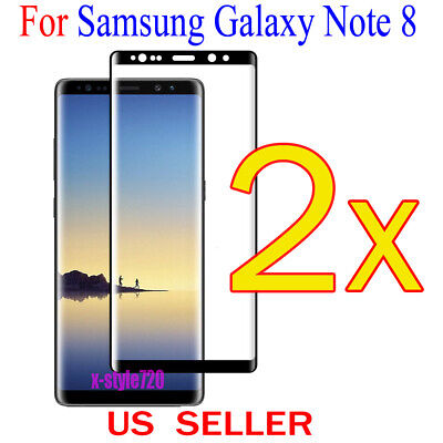 $ CDN3.82 • Buy 2x Full Cover Curved Clear Screen Protector Guard Film For Samsung Galaxy Note 8
