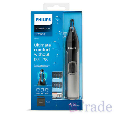 AU26.95 • Buy NEW 2019 PHILIPS Nose Ear Eyebrow Hair Trimmer Shaver Washable No Pulling No Cut