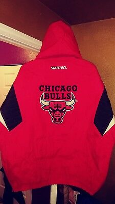 59f20f19b57f14 Vintage Chicago Bulls Throwback Puffy Pullover Parka Starter Jacket Large  New! • 349.99