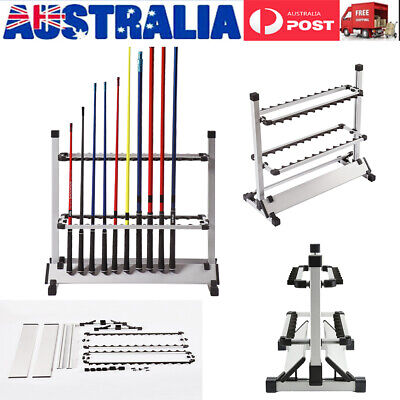 AU49.49 • Buy Fishing Rod Rack Stand 24 Slots Alloy Metallic Holder Stand Storage Tackle Tool