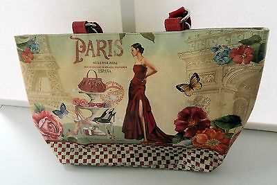 £8.99 • Buy Stylish France Postale Oilcloth Shopper Makeup Bowling Bag Large Small Various