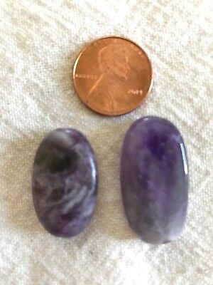 $3 • Buy Lepidolite Oval Beads, 2 Count!