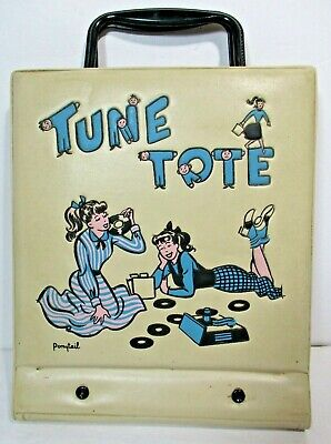 $18.95 • Buy Tune Tote Ponytail - 45 RPM Record Holder With 14 Records From The 50's And 60's