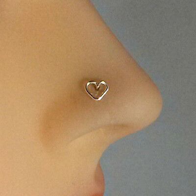AU21.70 • Buy Heart Nose Stud Nose Ring Tragus Cartilage Earring Post