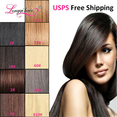 $32.69 • Buy U Tip Pre-Bonded Keratin Nail Tip Malaysian Remy Hair Extensions 50g 100strands