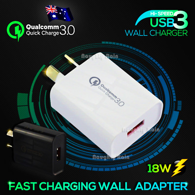 AU7.25 • Buy Fast Charging QC3.0 Certified USB Wall Plug Charger Adapter Samsung Apple Huawei