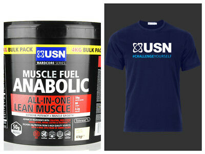 USN Muscle Fuel Anabolic All-In-One Lean Muscle 4kg & TRAINING TOP • 59.99£