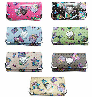 Ladies Authentic Anna Smith Patent Owl Print Purse Women Wallet Bag Boxed Gift • 9.99£
