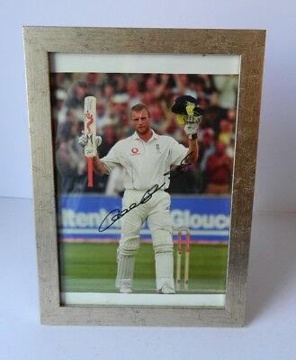 Autographed Andrew Flintoff Framed Photograph • 9.95£
