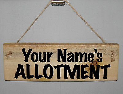 Personalised Name Allotment Shed Garden Outdoor Sign Plaque Greenhouse Plot Den • 6.29£