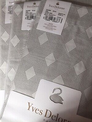 YVES DELORME PRISME SILVER SATIN  Duvet Cover Set KING LUXURY • 429.99£