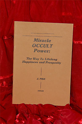 £25 • Buy MIRACLE OCCULT POWER The Way To Lifelong Happiness And Prosperity Finbarr  Book