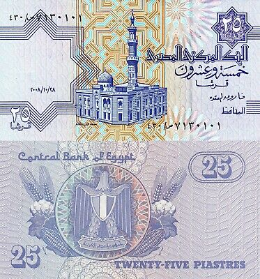 $0.99 • Buy Egypt 25 Piastres (27.10.2008) - Mosque/Agriculture/p57-New UNC