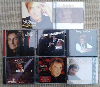 8 Barry Manilow Cd's. • 14.99£