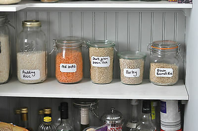 £3.99 • Buy Quality White Labels For Storage And Spice Jar Craft Labelling Larder Pantry