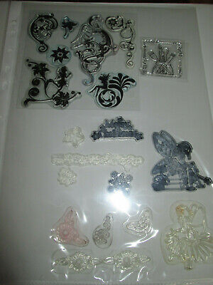VARIOUS SETS AVAILABLE Front & Back Clear Cling Stamp Set On A4 Sheets FREE POST • 5£