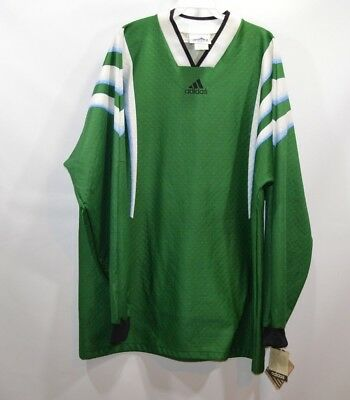 e3f6283bc76 Vintage 90s Adidas New Deadstock Mens XL Soccer Goalkeeper Jersey Long  Sleeve • 59.46$