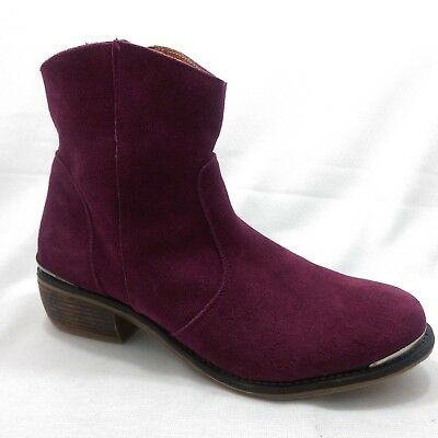 $33.99 • Buy MTNG Originals Urban Burgundy Berry Suede Pull On Ankle Boots Womens Size 10